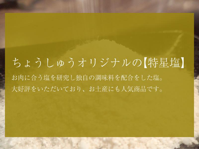 ちょうしゅうオリジナルの【特星塩】